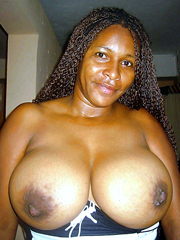 This ebony bitch knows that her tits are delicious