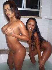 Picture collection of a black whore getting dirty with her..