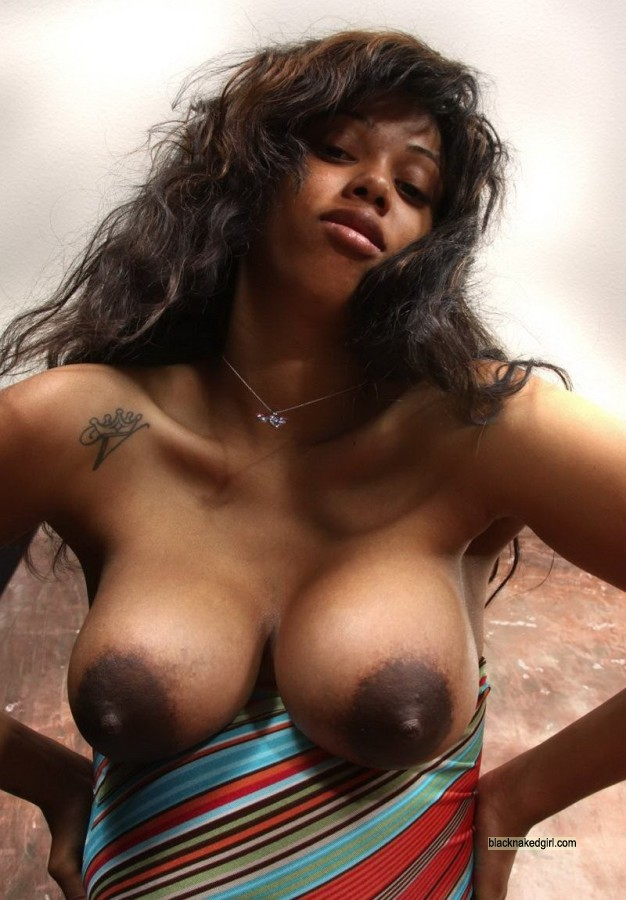 breasts Black girls bare