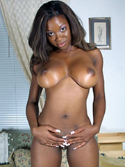 busty ebony young women tempts us with tits and protruding