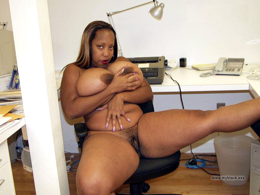Fat woman naked black