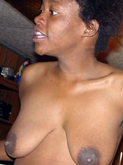 Old African slut with ugly tits