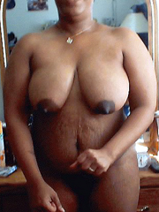 Black BBW exposes fat pussy lips, when her hubby on the..