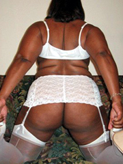 Incredible sexual ebony with big amazing tits posing naked..